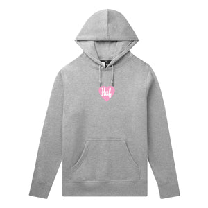 PLASTIC HEART P/O HOODIE - GREY HEATHER