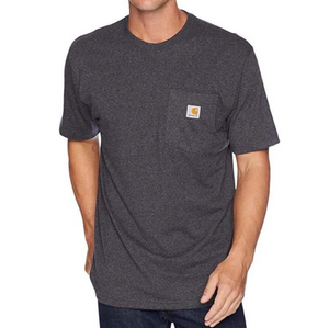 Workwear Pocket Tee - Carbon Heather
