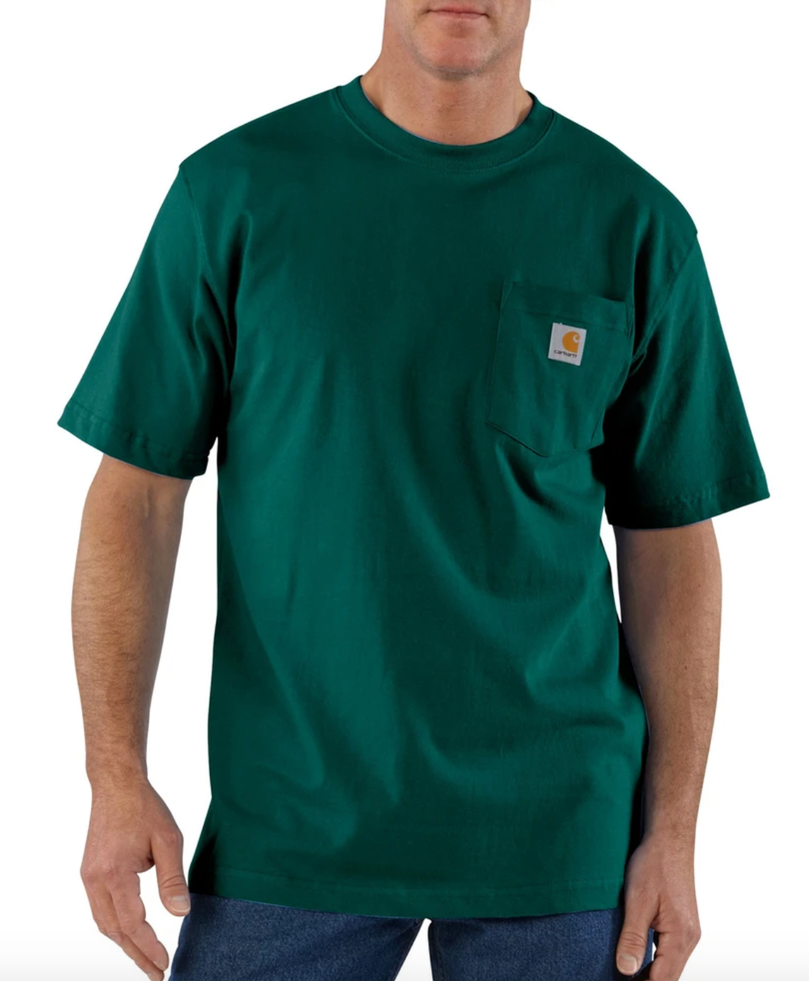 Workwear Pocket Tee - Hunter Green