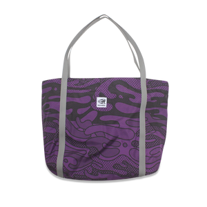 Foldable Tote Bag - Particle Purple