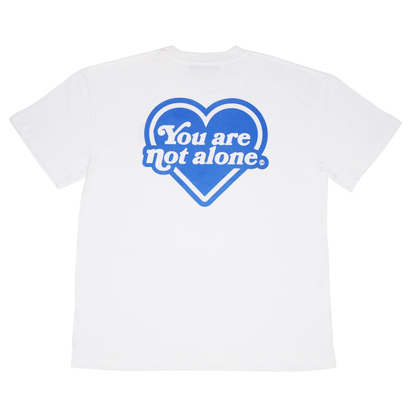 You Are Not Alone Heart Logo Oversized Tee - White