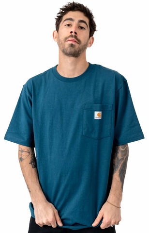 Workwear Pocket Tee - Stream Blue