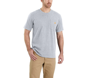 Workwear Pocket Tee - Heather Grey