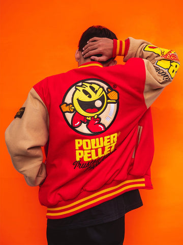 Chasing Ghosts Varsity Jacket - Red