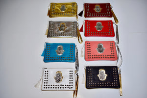 Studded Khamsa Clutches-Large