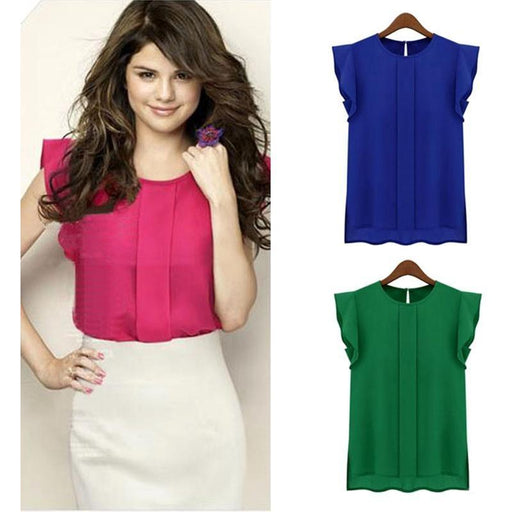 0ae66894d243f8 Corporate Casual Quarter Ruffle Sleeve Pleated Blouse - 3 Colors Available  - VanitySmash™