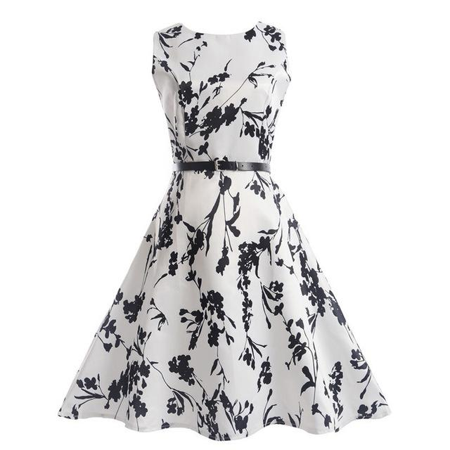 Mini me collection black white flower tea dress vanitysmash mightylinksfo