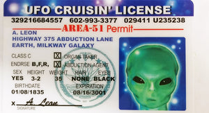 UFO Operators License -Area51