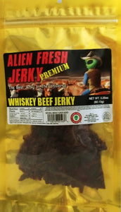 Premium Whiskey Alien Fresh Beef Jerky (3.25 oz)