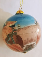 Hoover Dam Hand Painted Glass Christmas Ornament