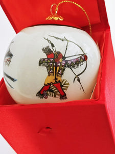 Hand Painted Indian Christmas Onament 2