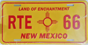 Historic Route 66 New Mexico License Plate