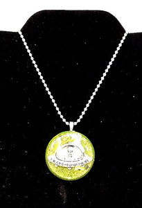 """Alien Orgone Generator"" Resin Necklace"