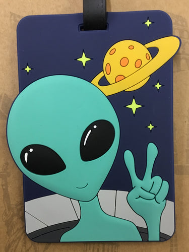 Luggage Tag Alien