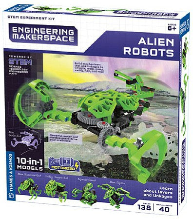 Thames & Kosmos Engineering Makerspace Alien Robot Stem Experiment Kit