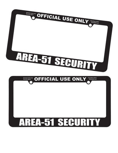 Area 51 License Plate Frames