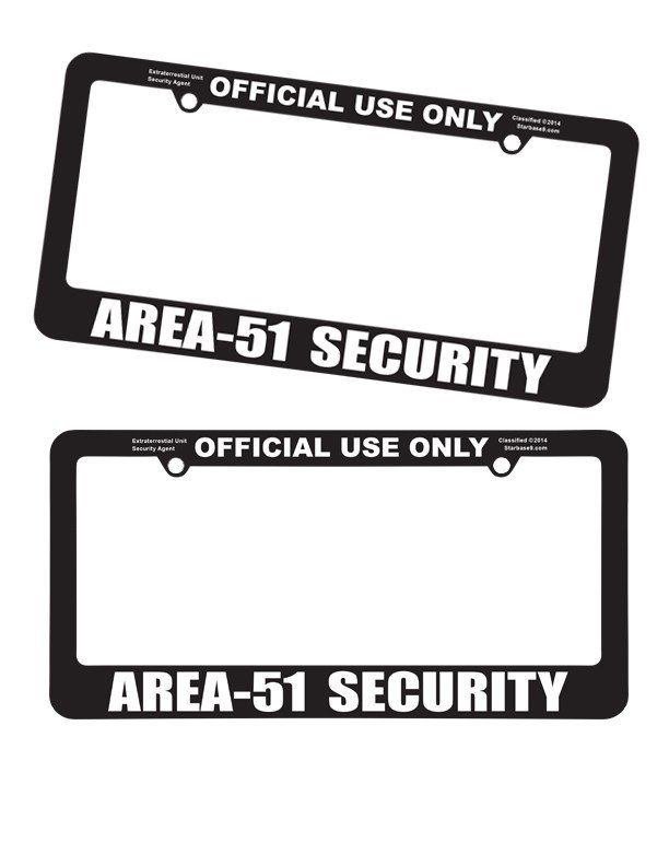 Area 51 License Plate Frames – Hoover Dam Gifts Online Fly N Saucer ...