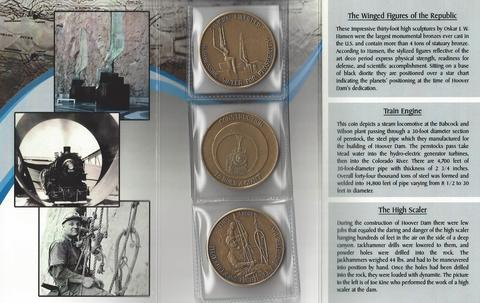 HOOVER DAM 75th Anniversary Three-Coin Bronze set