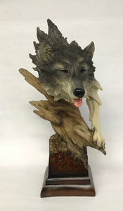 Wolf Bust 16in