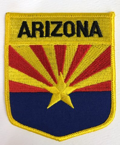 State of Arizon Embroibered Shield Patch