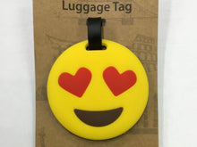 Luggage Tag Love Struck Emoji