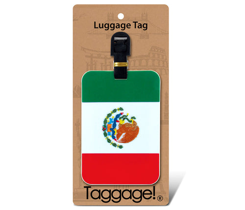 Luggage Tag Mexican Flag
