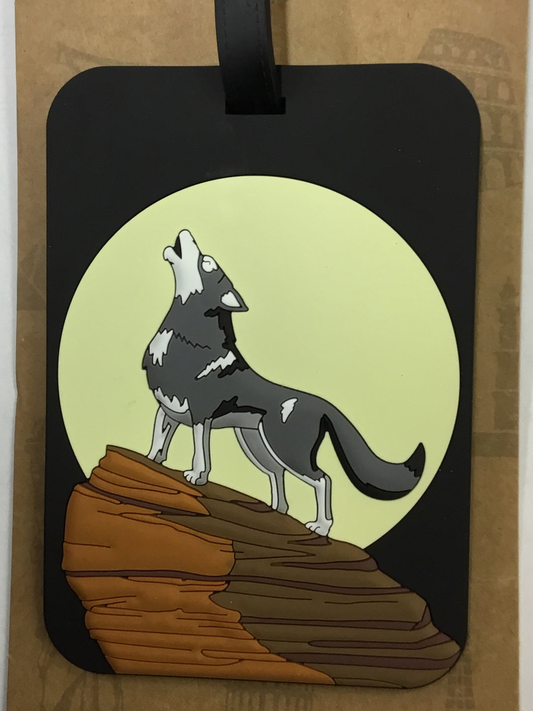 Luggage Tag Wolf