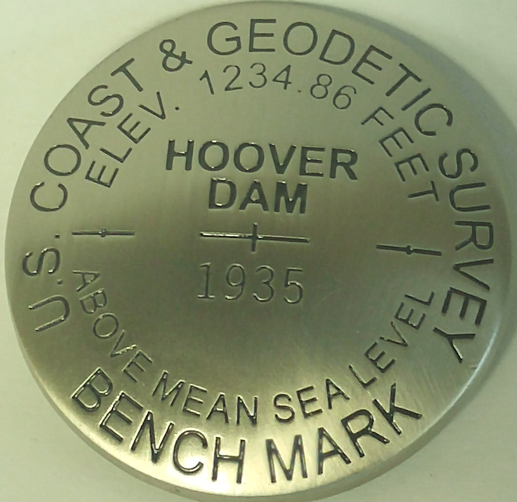 HOOVER DAM BENCH MARK MAGNET 65750-BLM