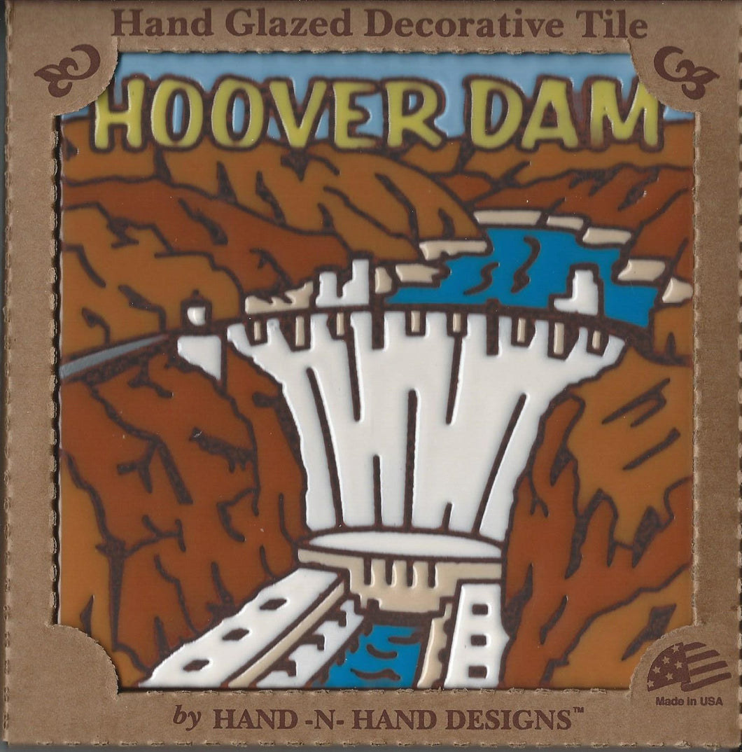 Hoover Dam Hand Glazed Decorative Tile