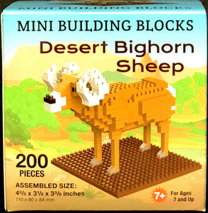 Desert Bighorn Sheep- 200 Piece Mini Building Blocks