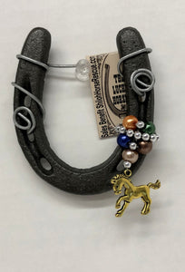Assorted Little Lucky Ornament with beads & horse charms