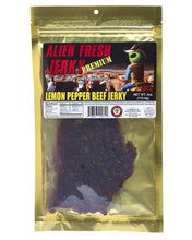 Premium Lemon Peppered Alien Fresh Beef Jerky (3.25 oz)