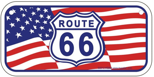 Historic Route 66 US Flag License Plate
