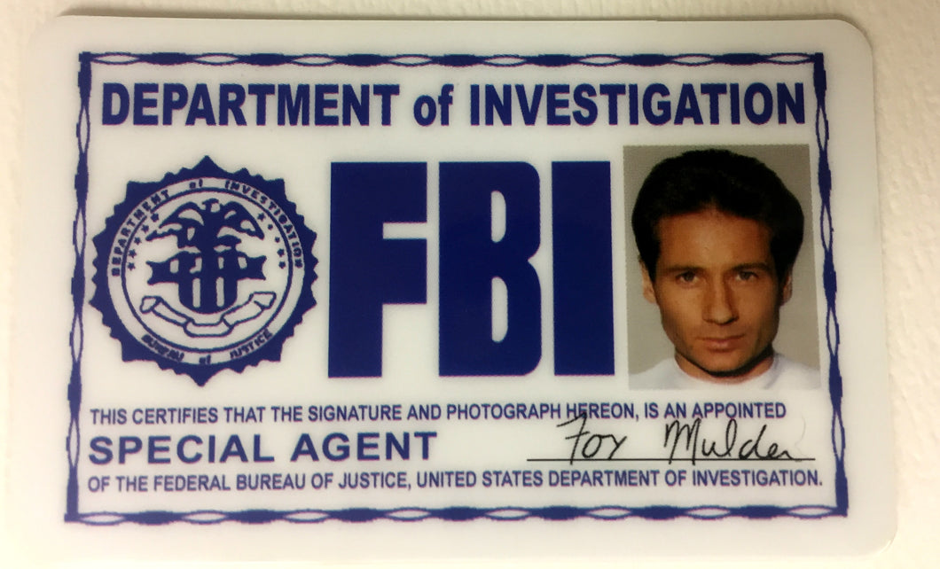 Mulder FBI License