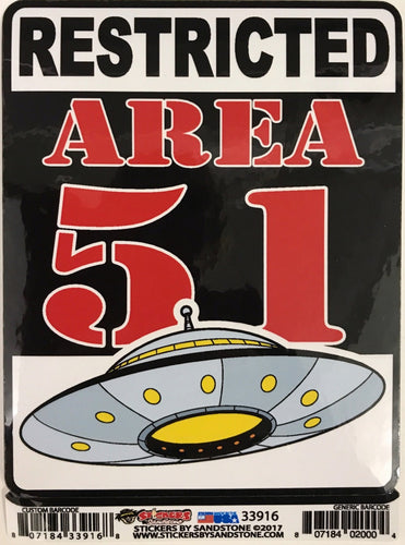 Sticker – Restricted Area 51