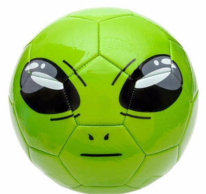 Green Alien Soccer Ball copyright Flying Saucer Store