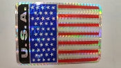 SHINY AMERICAN FLAG STICKER