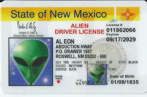 New Mexico Alien Driver License