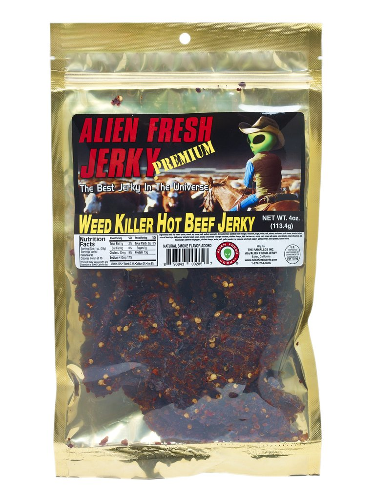 Premium Alien Weed Killer Hot Beef Jerky (3.25 oz)