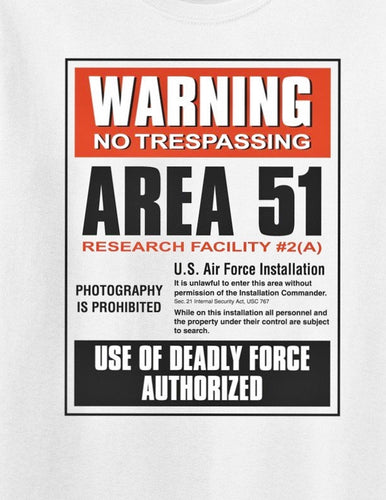 AREA 51 Warning SIGN Poster
