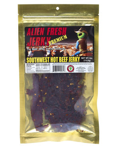 Premium Southwest Hot Alien Fresh Beef Jerky(3.25 oz)