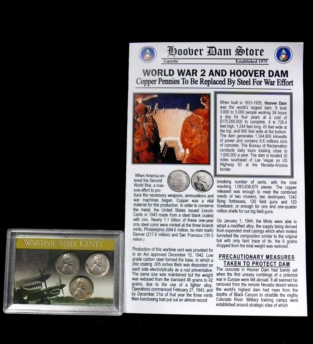 COINS - World War II Steel Penny Set