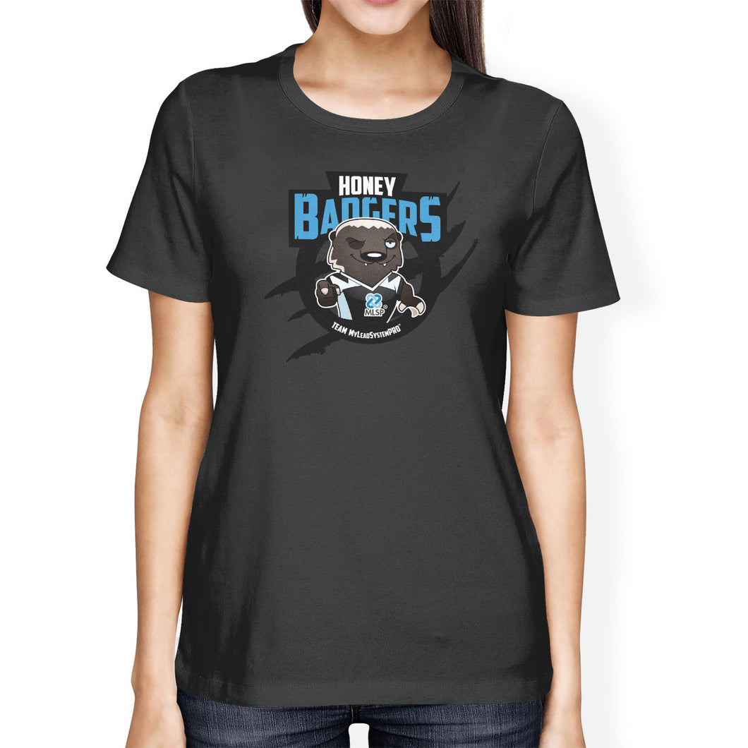 Baxter the MLSP Honey Badgers womens Tee