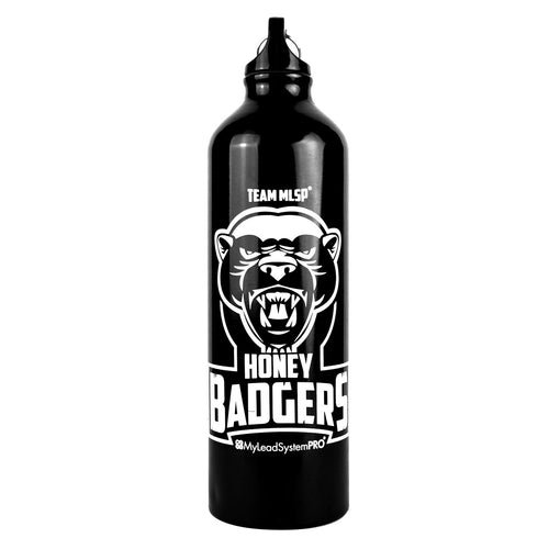 MLSP Honey Badgers Aluminum Water Bottle