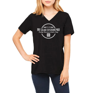 MLSP Vintage Logo Ladies V-Neck Tee