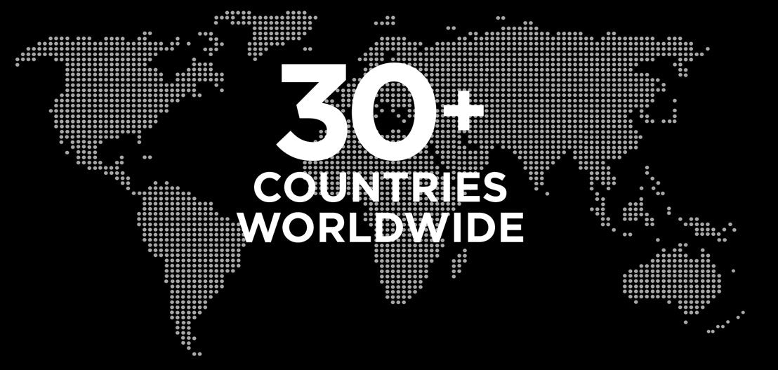 30+ countries worldwide