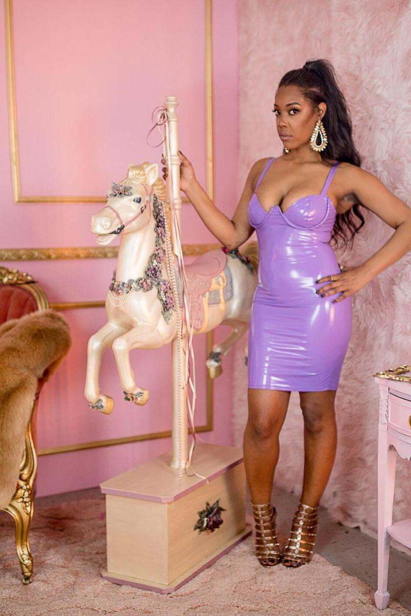 Purple Latex Dress - So Kate Boutique