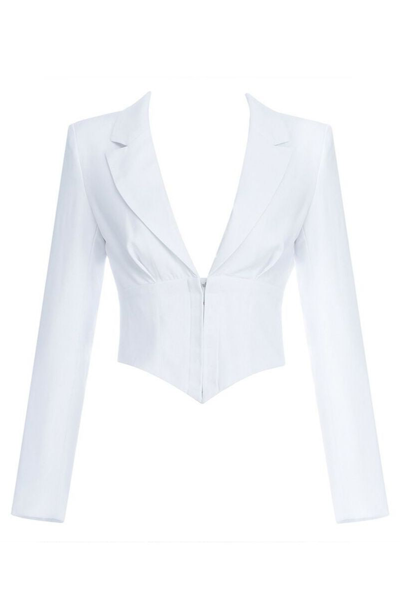 White Corset Jacket - So Kate Boutique