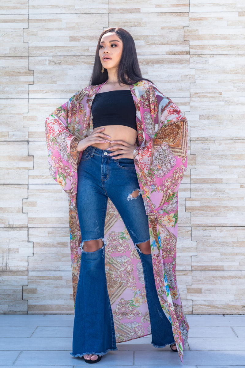 "The Monaco Kimono ""Cheyenne"" - So Kate Boutique"