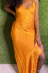 Orange Slip Dress